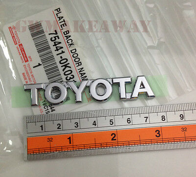 Genuine OEM TOYOTA Trunk Emblem Plate Back Door Name Badge Rear Chrome Tacoma