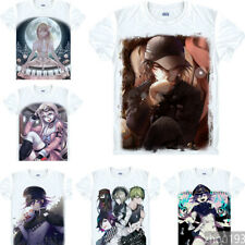 Anime DANGANRONPA Mioda IbukiUnisex T-shirt Short Sleeve Black Tee Cosplay#FU672