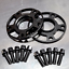Porsche 18mm Hubcentric Racing Wheel Spacers Forged 7075-T6 Aluminum Lug Bolts