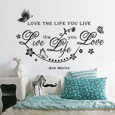 Love the life you live Words Removable Vinyl Wall Decal Sticker Room Mural Decor