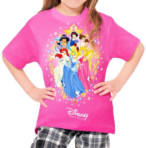 Disney Princesses Girls Kid Youth T-Shirt Tee Age 3-13 New