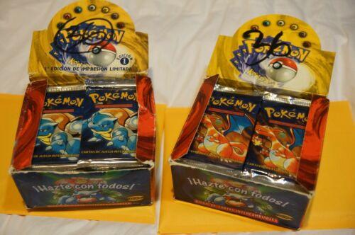 SPANISH LIGHT pack 1st ed Charizard art Pokemon Base set Booster Pack SEALED