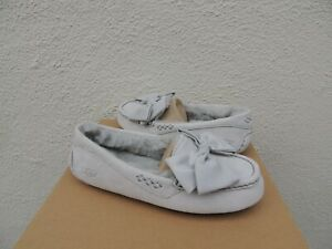785062f87be Details about UGG GREY VIOLET CLARA GLAM BOW MOCCASIN SLIPPERS US 7/ EUR 38  ~NIB