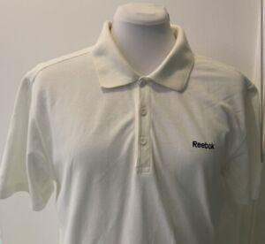 Reebok-White-Polo-Shirt-Taille-L