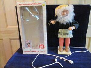 Vtg-22-034-Motionette-Santa-Elf-Woodworker-Motion-ettes-of-Christmas-Animated