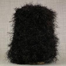 SOFT DOUBLE KNITTING FEATHER YARN BLACK 500g CONE 10 BALLS GLITTER SCARF DK LASH