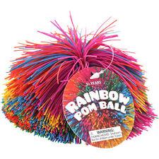 Rainbow Pom Pom Ball by Toysmith ~ Tactile, Sensory Toy, Fidget Ball, Autism