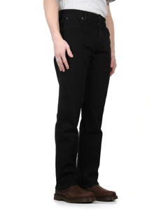 cd185bd9 Image is loading Wrangler-Durable-Stretch-Regular-Fit-Mens-Jeans-Black