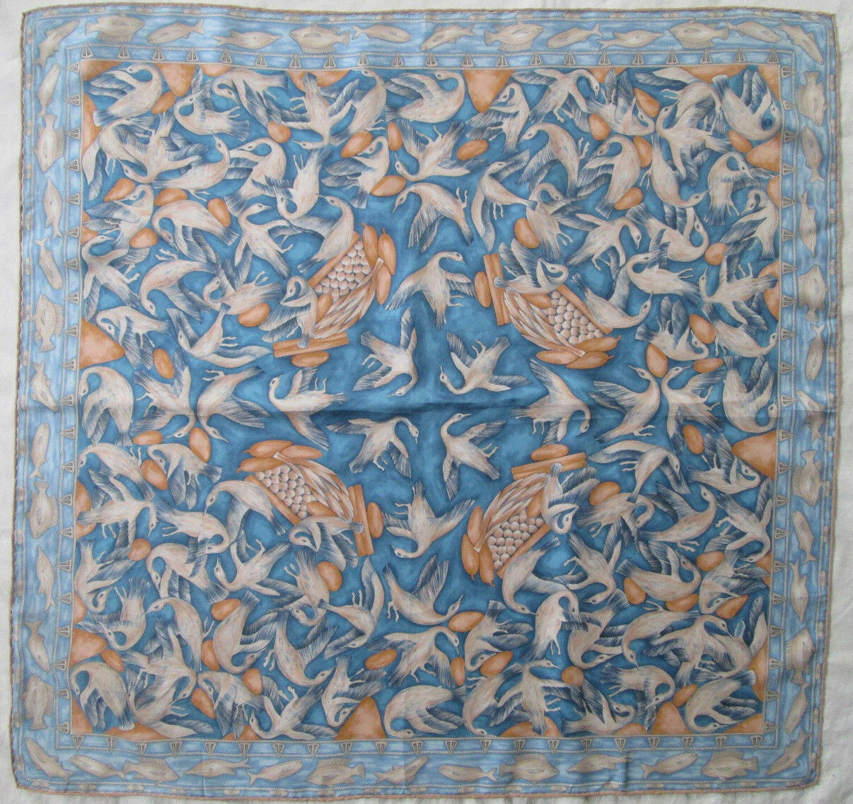 - superb scarf réunion des musées nationaux silk vintage tbeg 86 x 88 cm