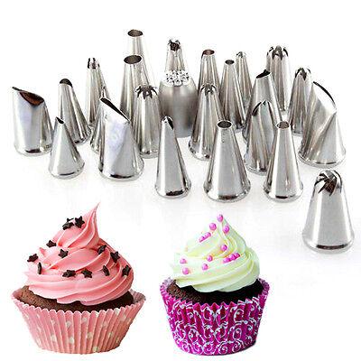 1/24/52 Icing Piping Nozzles Cupcake Bag Fondant Cake Sugarcraft Decorating Tool