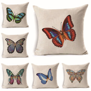 Single Butterfly Pattern Throw Pillow Case Decorative Sofa Seat Cushion Cover Ebay