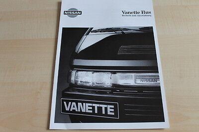 109567) Nissan Vanette Bus - Tech. Daten & Ausstattungen - Prospekt 06/1993 Fortgeschrittene Technologie üBernehmen