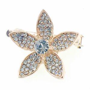 USA Magnet Hair Clip Rhinestone Crystal Hairpin Barrette Bridal Flower Gold #4