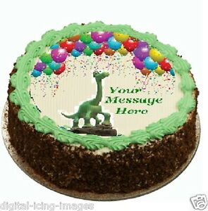 The Good Dinosaur Cake topper edible image icing party REAL FONDANT ... 13c1212e5
