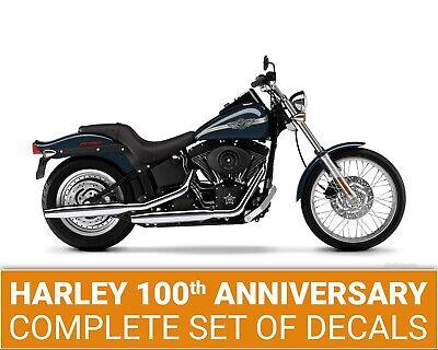 Harley Davidson 100th Anniversary Softail FXST rear fender decals stripes # 29