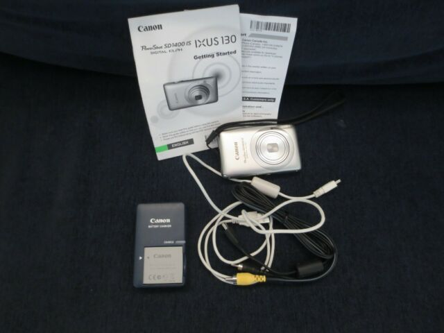 Canon IXUS 130 Digital Camera - PowerShot SD1400 IS battery included