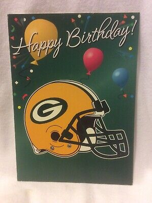 Green Bay Packers Birthday Card Nos Ebay