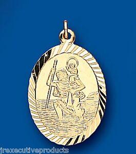 St-Christopher-Pendant-Oval-Yellow-Gold-Saint-Christopher-Pendant