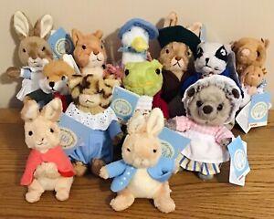 Beatrix Potter Gund plush soft toys,Peter Rabbit,Hunca Munca,Tiggy-Winkle,Flopsy