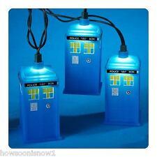 Kurt Adler Doctor Who TARDIS Christmas Holiday String Lights NEW Set of Ten 10'