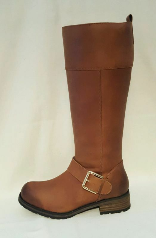 CLARKS NIXON  braun GENUINE LEATHER KNEE HIGH LENGTH Stiefel LADIES damen