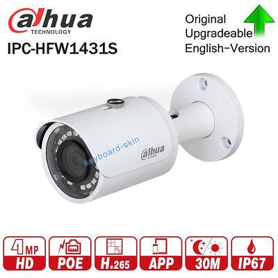 Dahua IPC-HFW1431S 4MP Mini Bullet Camera H.265 IR30m IP67 WDR PoE Onvif Network