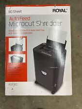 Royal Asf80 Micro Cut Shredder 8 Sheet Capacity With 80 Sheet Auto Feed