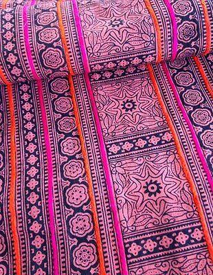 Vintage Style Hmong Batik handprint Textile Boho Tribal Fabric Craft Supplies