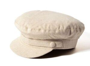 266ad25dafdb9d Image is loading Failsworth-Hats-Irish-Linen-Mariner-Cap-Biscuit