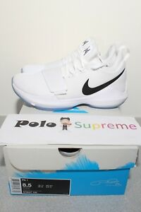 online store b011f dba2a Image is loading Nike-PG-1-Checkmate-Paul-George-White-Black-