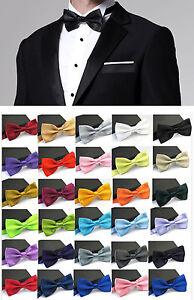 Bow-Tie-Adjustable-Unisex-Wedding-Confirmation-Suit-Smoking-Tie