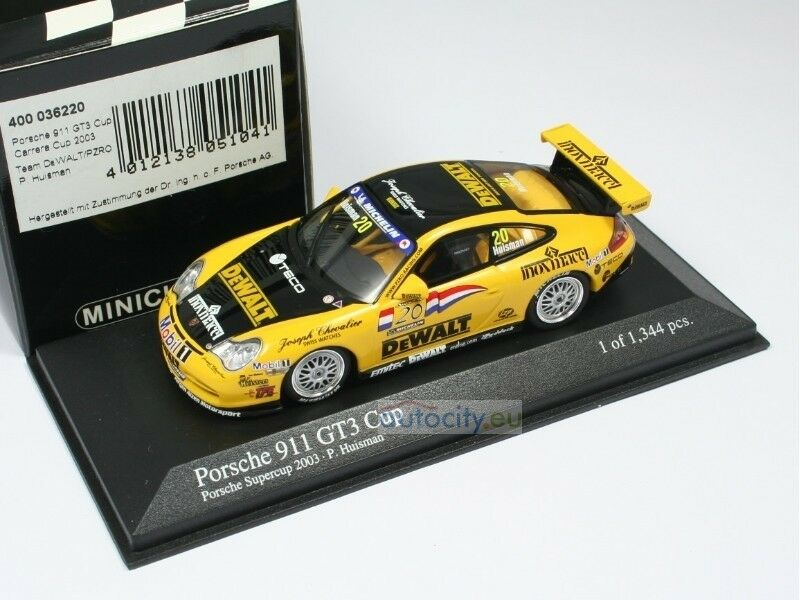 MINICHAMPS MINICHAMPS MINICHAMPS PORSCHE 911 GT3 CUP 'DEWALT' TEAM PZRO PORSCHE SUPERCUP PAT 400036220 e6ce49