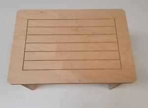 Tavolo In Legno Smontabile.Dettagli Su Tavolo Tavolino Rettangolare In Legno Multistrato Di Betulla Smontabile