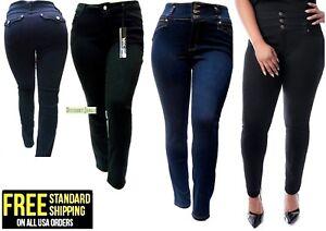 d631db567a7 JD 1826 WOMEN S PLUS SIZE BLUE  BLACK HIGH WAIST Denim Jeans pants ...