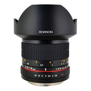 Rokinon 14mm f/2 8 ED AS IF UMC Lens for Sony E-Mount - Black