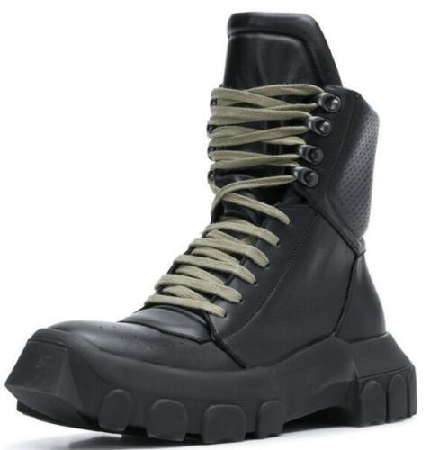 pour cuir montante véritable hommes en Chaussure PZOiTkXu