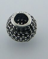 791051bcz Retired Pandora Sterling Silver Brown Pave Lights Bead In Box