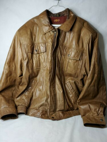 Vintage Authentic Western Wear Levis Brown Leather