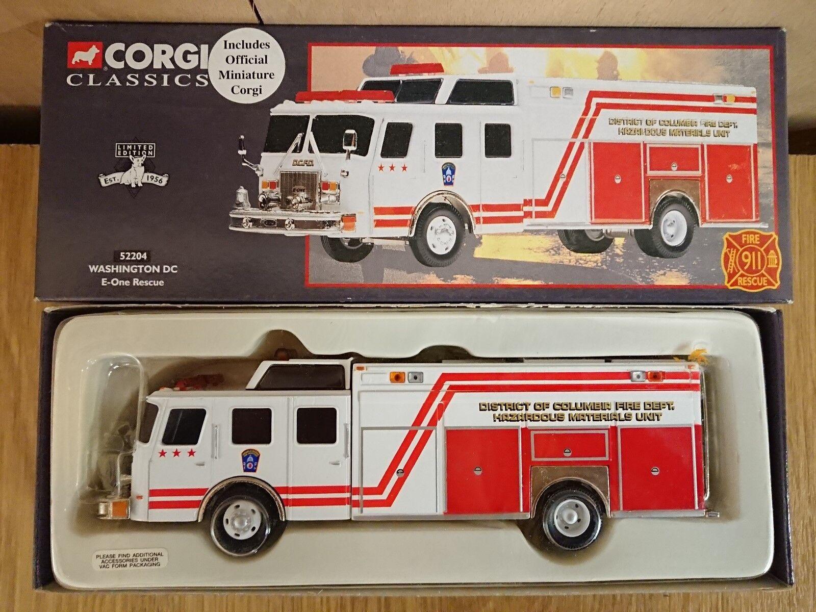 più sconto CORGI classeICS 52204 E-ONE E-ONE E-ONE Rescue Washington DC Ltd edizione N. 0001 del 5000  servizio onesto