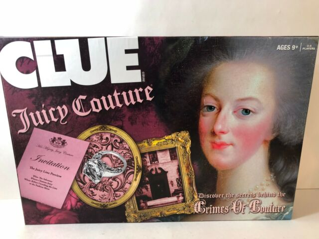Clue Juicy Couture Edition ~ USAopoly ~ Hasbro ~ 2000 1st Edition Clue