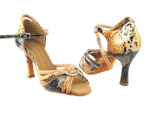Snake Skin Latin Salsa Very Fine Ballroom Dance Shoe SERA1154 Blue Orange Pink
