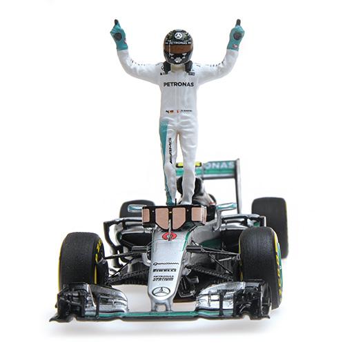 MINICHAMPS 417160906 Nico Rosberg 2016 CHAMPION DU MONDE ABU DHABI GP 1 43