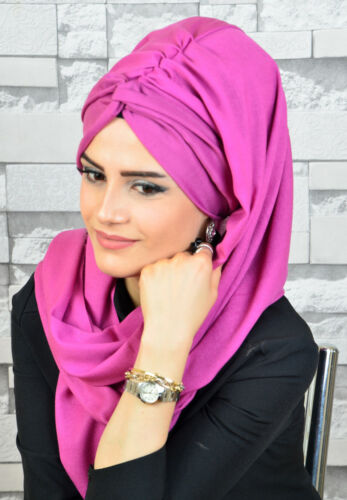 BD3025 Fertig Kopftuch Hazir Burgu Bandana Türban Sal Tesettür Hijab Khimar