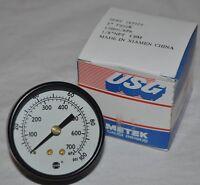 Ametek Usg 163949 Pressure Gauge 2 P500k 30psi 1 4 Npt Center Back Mount Nnb Tools and Accessories