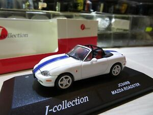 Details about 1/43 Mazda Roadster MX5 MX-5 diecast (white with stripes)