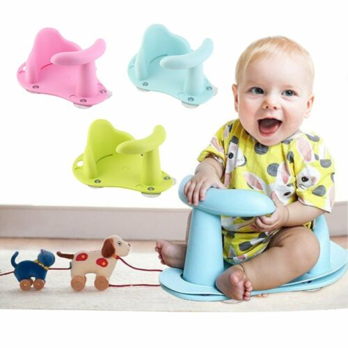 Baby Bath Seat Suction Tub Safety Chair Toddler Kids Anti Slip Security Rings