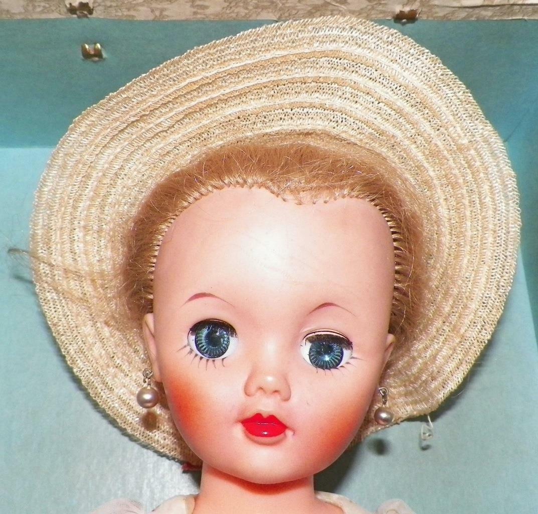 Arranbee Nanette Fashion Doll 17in Original Kleid Carrying Case Hat Vintage Nice
