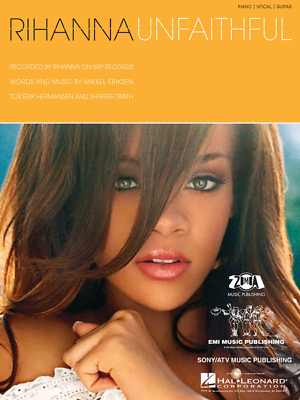 "Zelfbewust ""rihanna-unfaithful"" Sheet Music-piano/vocal/guitar Brand New On Sale-rare-mint! Bekwame Productie"