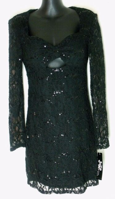 Jump Apparel Juniors Small Black Lace Sequin Dress Ebay