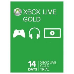 Tarjeta prepago 14 días SUBSCRIPCIÓN Xbox ONE / 360 Live 14 Days GOLD ESPAÑA